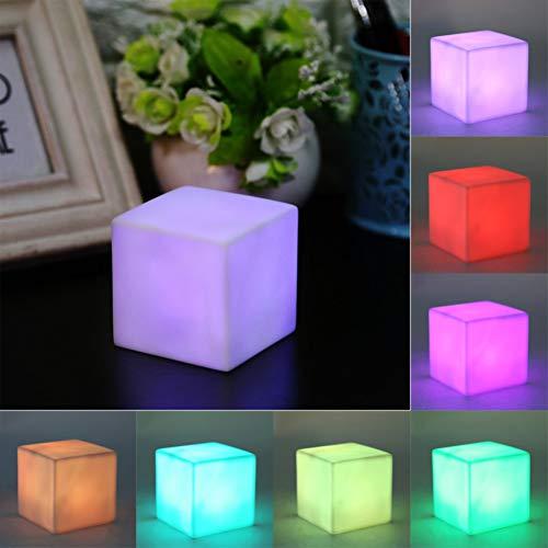 YCEOT 1 stuks Mood Night Light LED kleurverandering Mood Cube nachtlampje tafellamp voor lange tijd gadget decoratie voor feestjes thuis