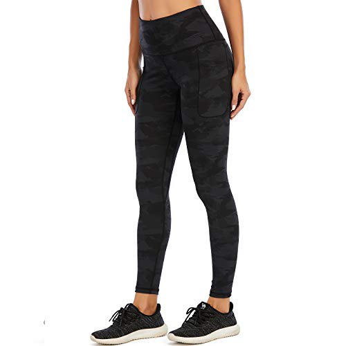 AY Leggings Sportivi da Donna con Tasche Laterali, Leggings per l'allenamento dei Pantaloni Yoga a Vita Alta per Fitness Corsa Palestra Pilates.
