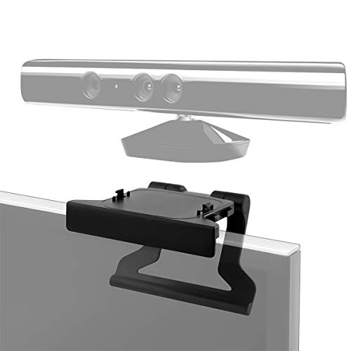 LANMU TV Mount Clip Stand Compatible with Microsoft Xbox 360 Kinect Sensor, TV Mounting Holder (Black)