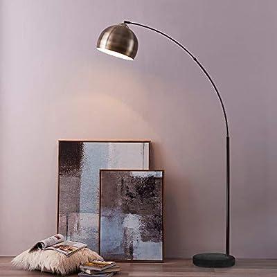 "Teamson Design VN-L00013 Versanora - Arquer 66.93"" Modern Arc Floor Lamp Reading Light for Living Room Bedroom"