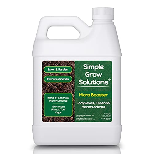Micronutrient Booster- Complete Plant & Turf Nutrients- Simple Grow Solutions- Natural Garden & Lawn Fertilizer- Grower, Gardener- Liquid Food for Grass, Tomatoes, Flowers, Vegetables - 32 Ounces