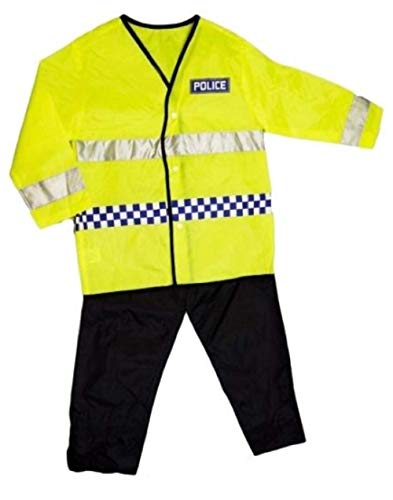 Girls Boys Dress Up Police Officer Costume Outfit Role Play Kids Fancy Dress Ages 3-7 Years (3-5 Years)