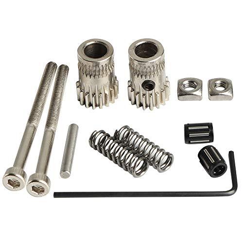 BCZAMD - Kit di accessori per stampante 3D MK2 /MK2.5 /MK3 pezzi estrusore ruota a doppia dentatura in acciaio per Prusa i3 DIY