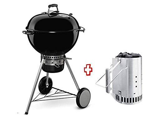 Weber - Barbecue a Carbonella Promo Kit 17851 Master-Touch GBS E-5750 Ø57 CM Black 14701004 + 17631 Ciminiera Accensione WEBER