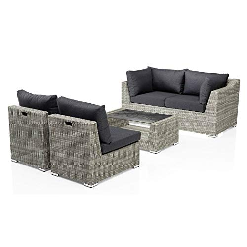 Kettler Costa 4 Piece Lounge Set 2 Armchairs 2 Seater Sofa Lounge Table