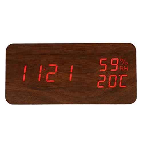 Bayue Moderne led-wekker met temperatuur, elektronisch, voor op het bureau