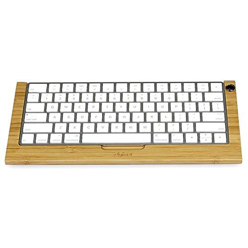 SAMDI Keyboardständer Bambus Tastaturablage Dock Halter kompatibel mit iMac-Tastatur Ständer Halterung Keyboard Tray