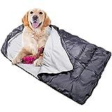Zwini Hundeschlafsack Outdoor Haustier Bett Matte Kissen Polar Fleece weich schwimmbar Wasserdicht verschleißfest Warm Keeping Kordelzug Reißverschluss Klettverschluss
