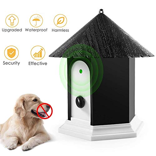 SOARING Anti Barking Device, Sonic Bark Deterrents ,Outdoor Dog Bark Control Contrl Device with Adjustable Ultrasonic Level Control Safe for Dogs
