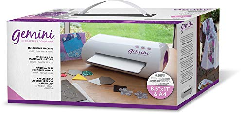 Gemini by Crafter's Companion CCM GEM-M-USA Gemini Multi Media Die Cutting Embossing Crafters Companion Machine with Pause Resume & Reverse, White