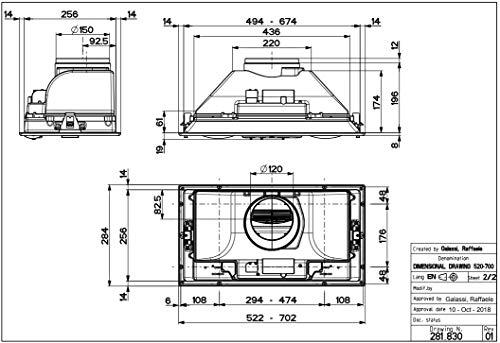 FABER INKA SMART HC X A52, CAPPA ASPIRANTE SOTTOPENSILE INOX 52 CM 305.0599.307