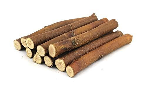 Weide-Äste - Weidenholz - Weide - Salix - Weidenbaumäste - Weidenäste - Aquarium - Krebse - Garnelen - Krebsfutter - Garnelenfutter - Garnelensucht - Schnecken - Futter - Aquaristik - 10 Stück a 10 cm