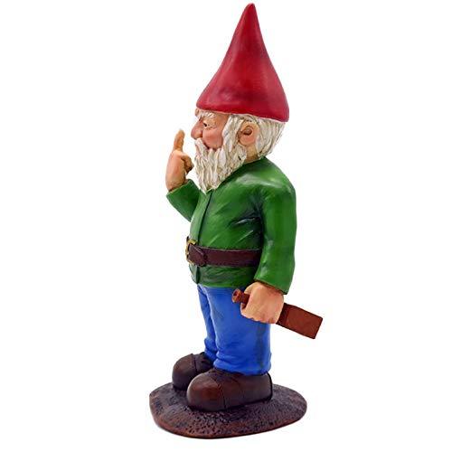 Kining Nain De Jardin Exterieur Humour Doigt d'honneur,Statue De Gnomes Go Away,décoration d'art Gobelin De Jardin,Ornements De Pelouse De Jardin Gnomes pour Le Jardin Intérieures Ou Extérieures