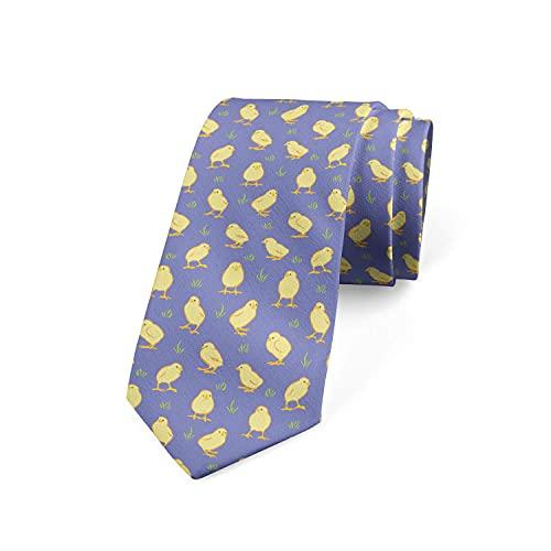Tcerlcir Corbata Para Hombre Corbata Con Estampado De Pájaros De Pollitos En Un Prado Corbata De Poliéster Suave Para Ropa Formal, Bodas, Bailes, Celebraciones, Fiestas