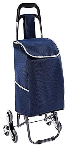 Pliegue Stow Diseño Compras Trolley Multifuncional Carrito Multifuncional 6 Rueda Stair Escalada Carrito Supermercado (Color : Blue, Size : 25x91cm)