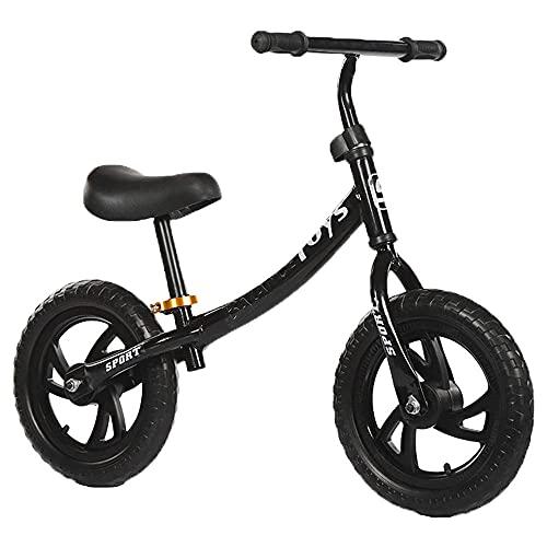 XGYUII Bicicleta de entrenamiento para niños de 2 a 6 años de edad para niños y niñas de 2 a 6 años de edad, bicicleta de equilibrio de caminante, color negro y negro