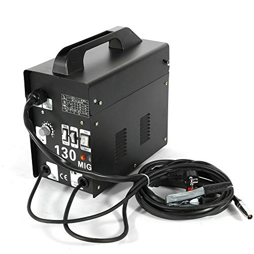 OUBAYLEW Poste à souder MIG-130 230 V 55-120 A - Fil fourré - Sans gaz - Noir