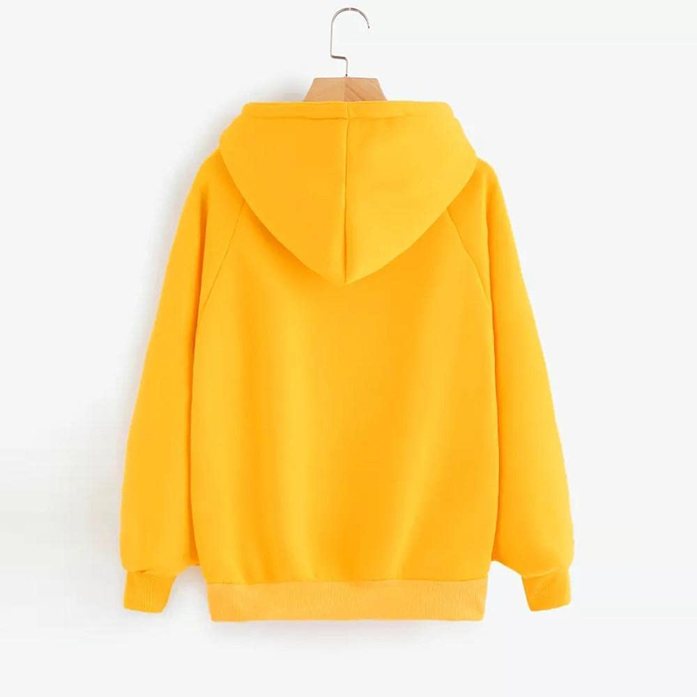 Hoodies for Women with Designs Aesthetic, Teen Girls Casual Drawstring Sweatshirts Long Sleeve Pullover Top with Pockets