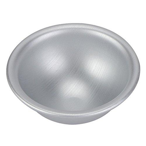 Halbkugel Kuchenform, Fydun 1 Stück Halbkreisförmige Aluminiumlegierung Halbkugel 10cm Chiffon Kuchenform für die Herstellung von Weichen Süßigkeiten Kuchen Pudding Gebäck