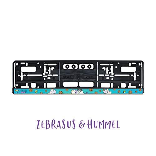 Pummel & Friends - KFZ-Kennzeichenrahmen mit Clip (Türkis)