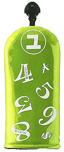 フランク三浦GOLF ヘッドカバー ユーティリティ用 スケルトンモデル イエローグリーン FMG-SK-HC