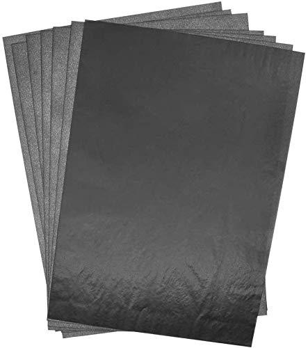 Dellcciu 100 Blätter Carbon Transferpapier Kohlepapier Kopierpapiere Blatt Kohlepapier Schwarz DIN A4 Pauspapier Durchschreibepapier (200pcs)