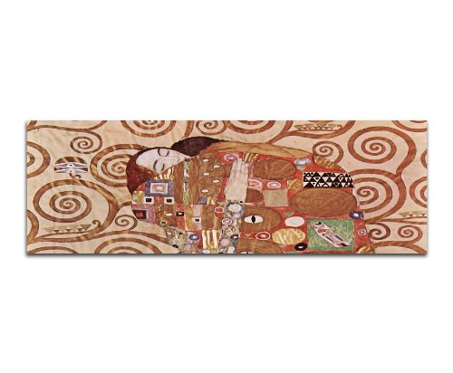 Paul Sinus Art capolavori della Pittura Gustav Klimt, 031_ 150x 50cm Panorama murale Stampa Artistica Su Tela Dipinto dall' originale alte Meister–14. fino a ° secolo capolavori del Tempo storia
