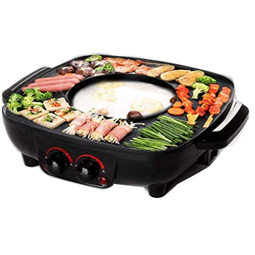 JGSDHIEU BBQ Hot Pot Multifunctionele elektrische kookpan Home Electric Torréfaction Hot Pot