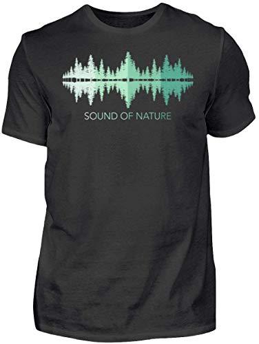HOLZBRÜDER® Sound of Nature Holz T-Shirt perfekt für die Arbeit mit der Kettensäge im Wald (M, Forest)