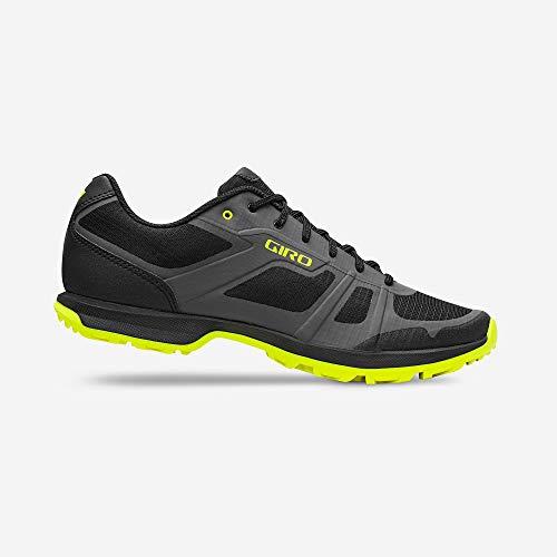 Giro Gauge Mens Mountain Cycling Shoe − 47, Dark Shadow/Citrine Green (2020)