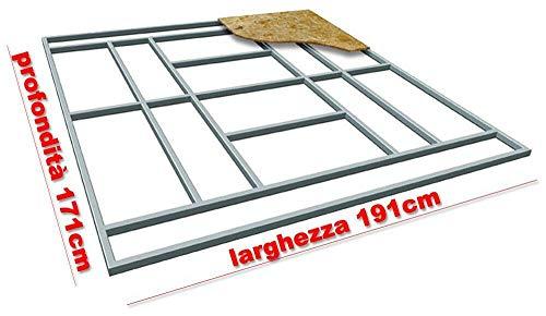 giordano shop Base Supporto Pavimento per Casetta in Lamiera 191x171 cm Floor M