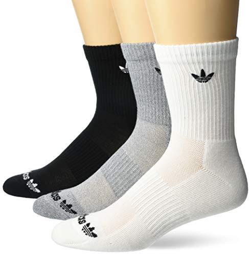 adidas Originals Trefoil Mid-Crew Calcetines (3 pares), blanco/gris breza/negro, L