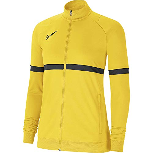 NIKE Chaqueta para mujer Academy 21 Track Jacket, Mujer, CV2677-719, amarillo/negro/gris oscuro/negro, small