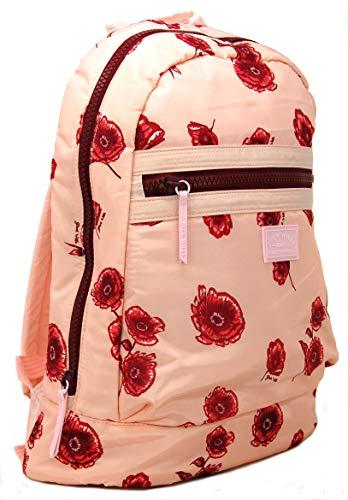 Jack Wills Polyester Rucksack Heverhill in hellrosa Blumenmuster