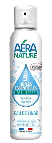 AERA NATURE : Eau de linge aux 3 huiles essentielles de lavandes - contrôlé Ecocert, Naturel à 99,9% - repousse les mites - 125ml by Laboratoire Columbus Natura