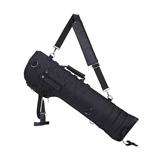 YFGRD 29in Gewehr tragen Rucksack Tactical Pistol Scabbard MOLLE Gewehrriemen Fall Lange Tasche für die Jagd CS Airsoft,Schwarz,73cm(29in)