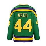 Yajun Fulton Reed #44 Mighty Ducks Película Camisetas Hockey Jersey sobre Hielo NHL Hombre Ropa Respirable T-Shirt de Manga Larga,XL