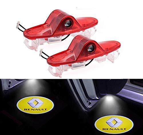 Sunshine Fly 2 luces LED laterales bajo espejo Ghost proyector luz logo luz de bienvenida coche luz trasera accesorios lente de cristal blanco