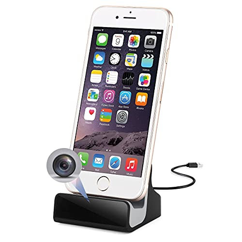 Hidden Camera,for iPhone Charger Dock with Spy Nanny Camera WiFi Pet Cam for Home Security