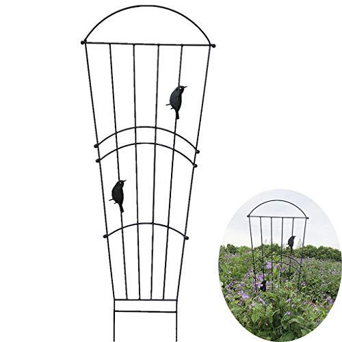 Garten-Gitter für Kletterpflanzen, Garten Obelisk für Topfpflanzen Unterstützung Metallgarten-Schirm Trellis Zaun Panel für Blumen Reben Rosen Clematis