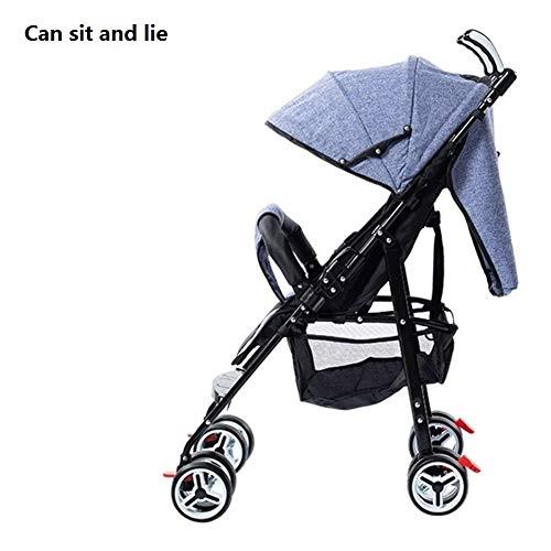 High Landscape - Carrito de bebé 2 en 1 barato desde el nacimiento de los recién nacidos, carrito plegable ligero para niños