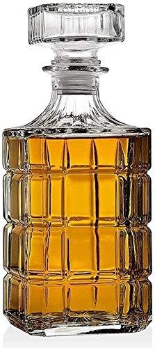 SOAR Botellero Decantadores de Whisky de garrafa for espíritus Vaso de Whisky Decanter for Licor o Whisky Bourbon Vino 33.81 Oz