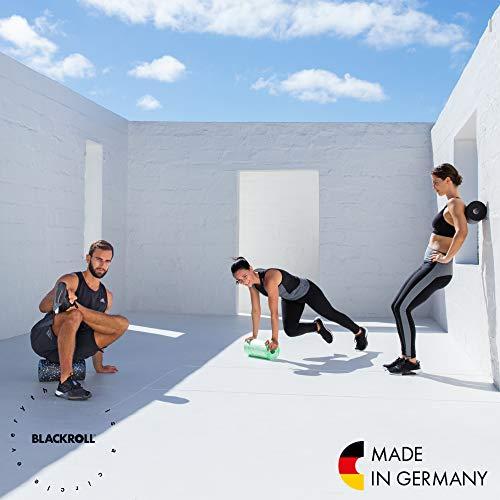 BLACKROLL STANDARD Faszienrolle – das Original (Härtegrad mittel) – Selbstmassage-Rolle für die Faszien in schwarz + Booklet - 8