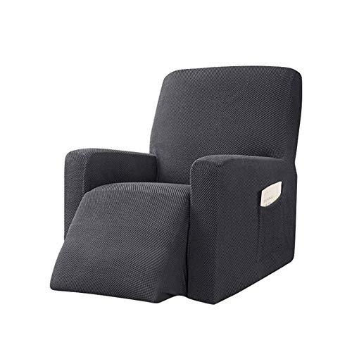 ADELALILI Sesselschoner Sesselüberwürfe für Fernsehsessel Relaxsessel Grau Bezug Elastisch Schmutzabweisender Verschleißfest Stretch Sofahusse Schonbezug