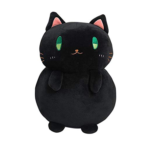 2020 Creative Cute Blessing Cat Plush Toy Pillow Bread Cat Doll Sleeping Pillow,Plush Animals Doll Nice Accompany Christmas Creative Gift/Birthday Present for Kids (Black)