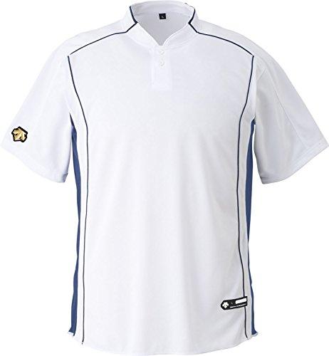 DESCENTE(デサント) 野球 立衿2ボタンベースボールシャツ Sホワイト XOサイズ DB109B