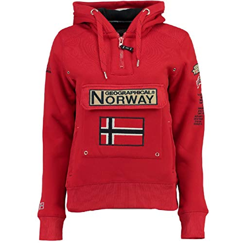 Geographical Norway Sudadera DE Mujer GYMCLASS Rojo L