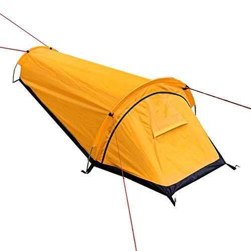 LytHarvest Single Person Personal Bivy Tent, 1 Person Bivvy Bag Tent Lightweight,Breathable Camping and Backpacking Bivi Tent,Emergency Shelter, Waterproof, Orange