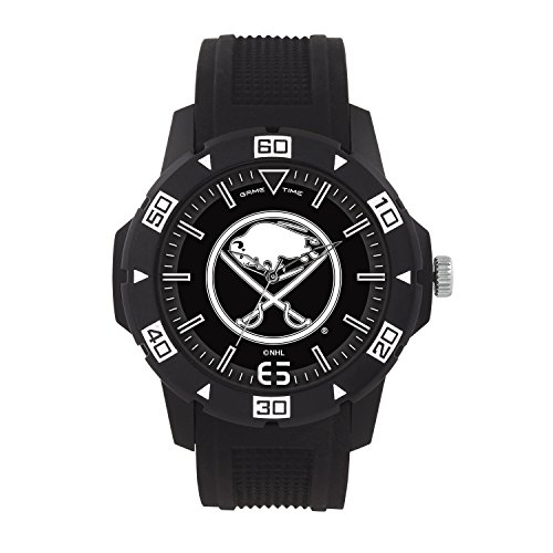 Game Time NHL Buffalo Sabres Mens Automatic Series Wrist Watch, Black, One Size