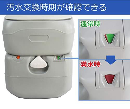 SunRuckポータブル水洗トイレピストンポンプ方式プッシュ21LSR-PT4521
